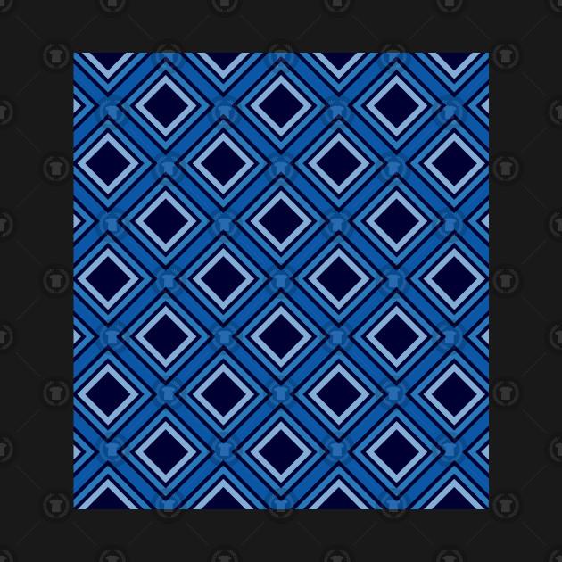 Blue Rhombus Pattern
