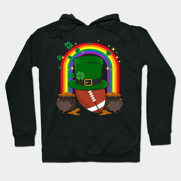 American Football Leprechaun Funny St. Patrick's Day Hoodie