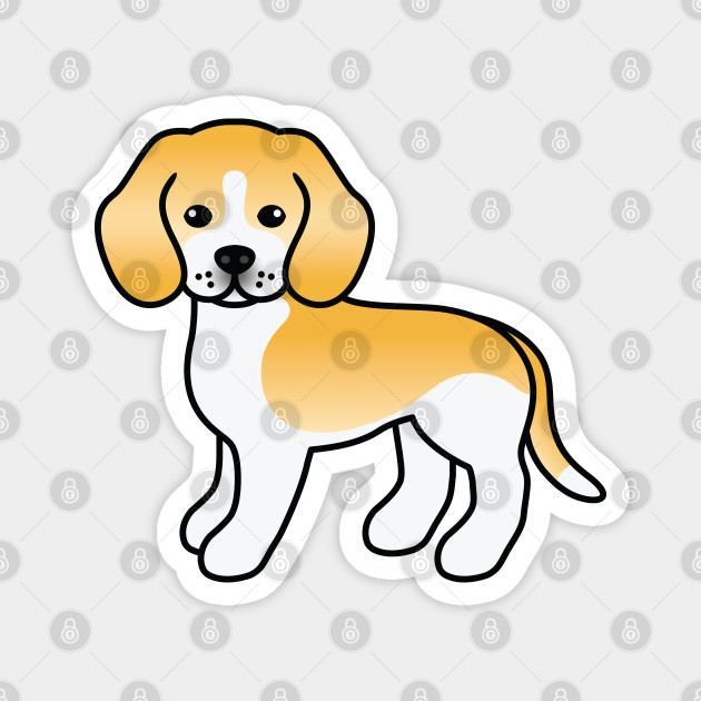 Lemon And White Beagle Dog Cute Cartoon Illustration Beagle