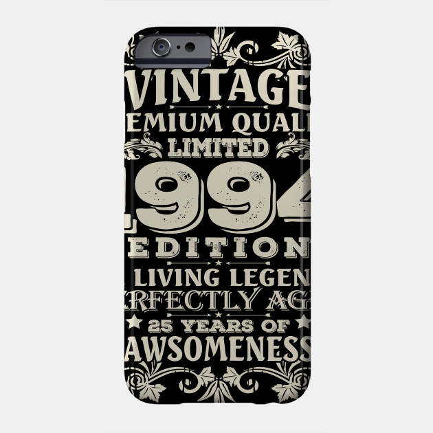 Vintage Made In 1994 25 Years Old Shirt 25th Birthday Gift Phone Case