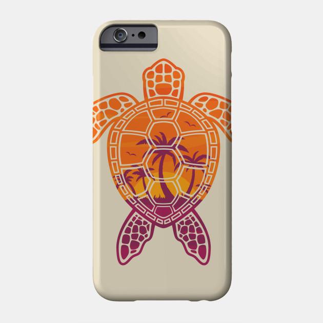 Tropical Sunset Sea Turtle Design Turtle Phone Case Teepublic
