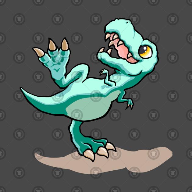 Cute Baby T-Rex Walking Design