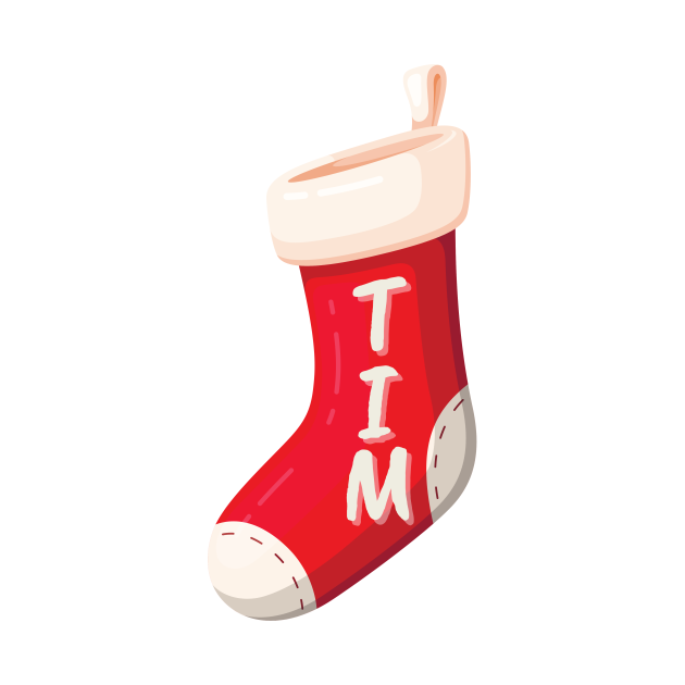 Christmas stocking with name Tim