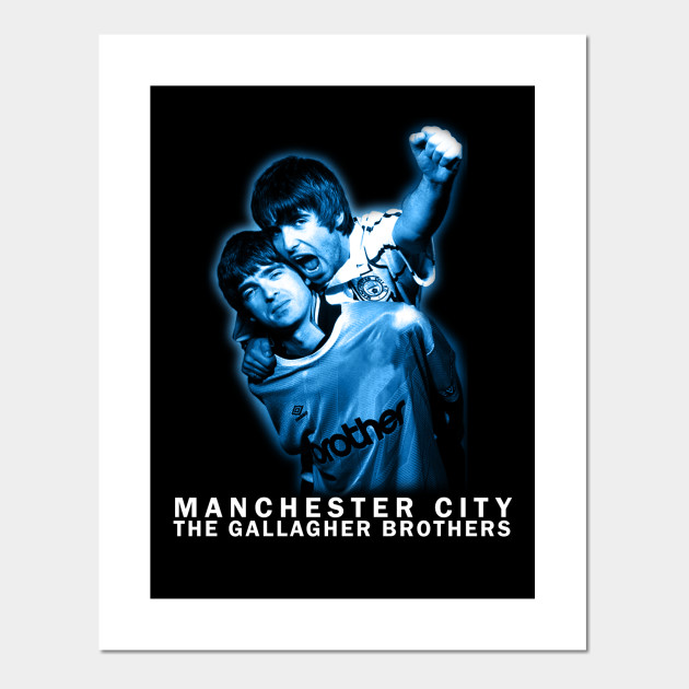 Oasis Manchester City Noel Liam Gallagher Giant Wall Art Photo Print Poster Kunstplakate