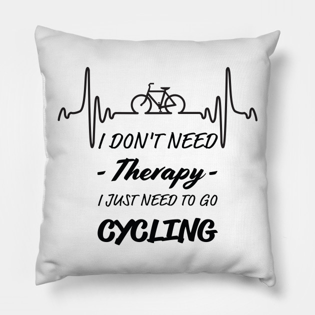 Bicycle T-Shirt. T Shirt Gifts For Cyclist, Cycling Tee Shirt, Men's Birthday Gifts. Pillow