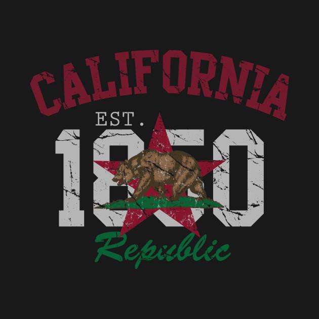 Retro California Republic 1850