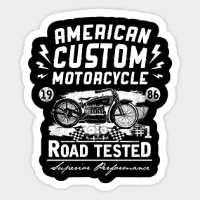 American Custom Motorcycle Stickers TeePublic - Custom motorcycle stickers