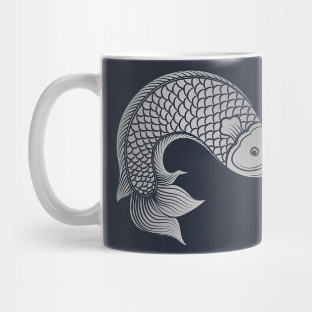 Chinese Fish Koi Carp Luck Fortune Prosperity Gift Koi Fish Art Mug Teepublic