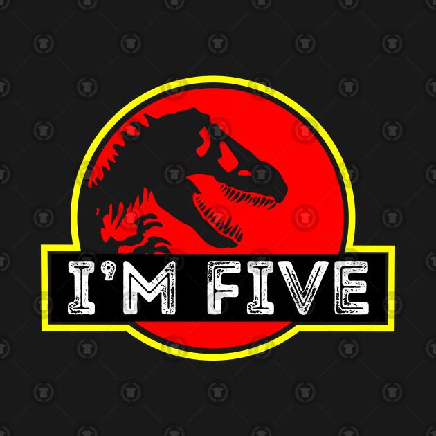 Funny Dinosaur 5th Birthday Gifts Idea T Shirt For Kids