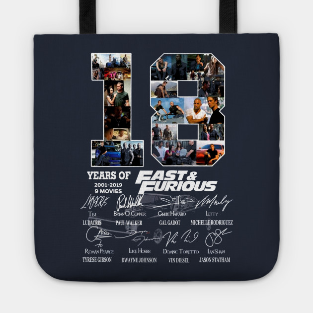 18 Years of Fast and Furious Signature Thank You For The Memories Awesome