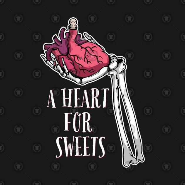 Heart Sweets Halloween Skeleton Hand Heart Gift