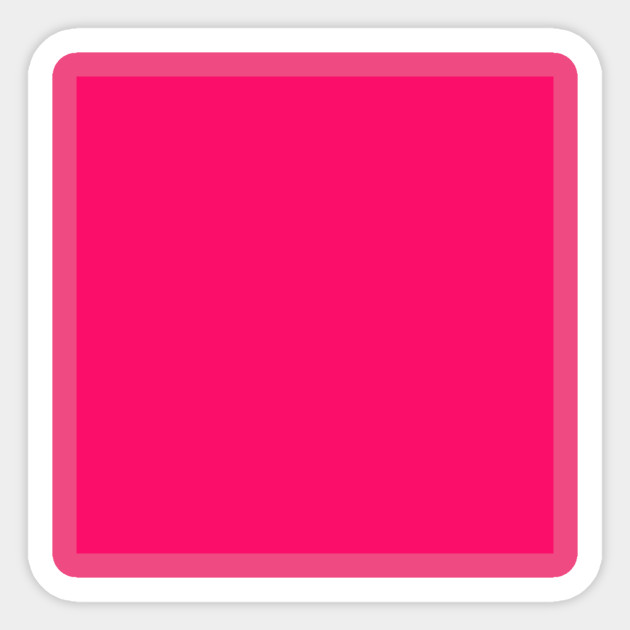 Neon Hot Pink Bright Fuchsia Solid Color Plain Background Solid Color Pink Sticker Teepublic