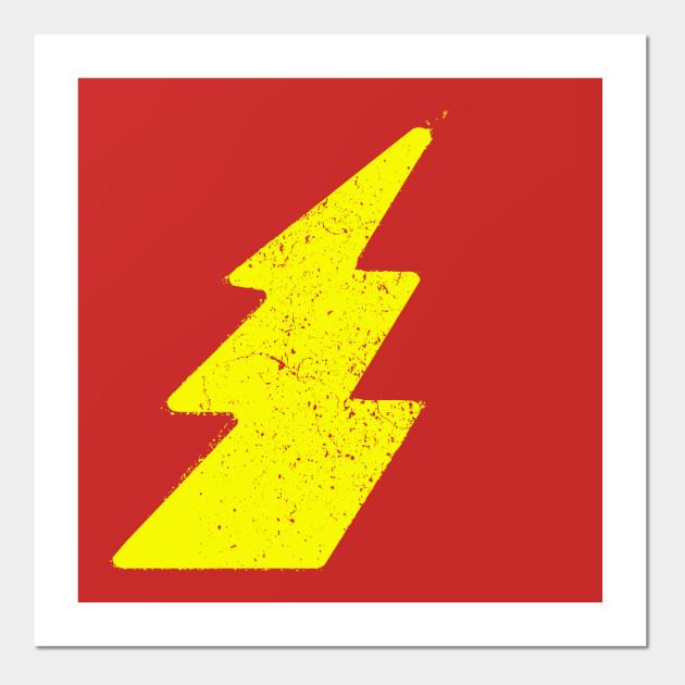 Grunge Lightning - Grunge - Wall Art | TeePublic