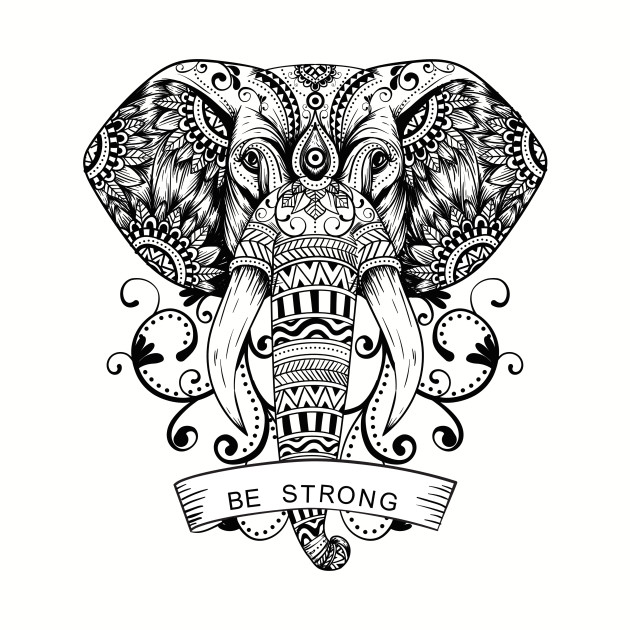 Be Strong Elephant Face