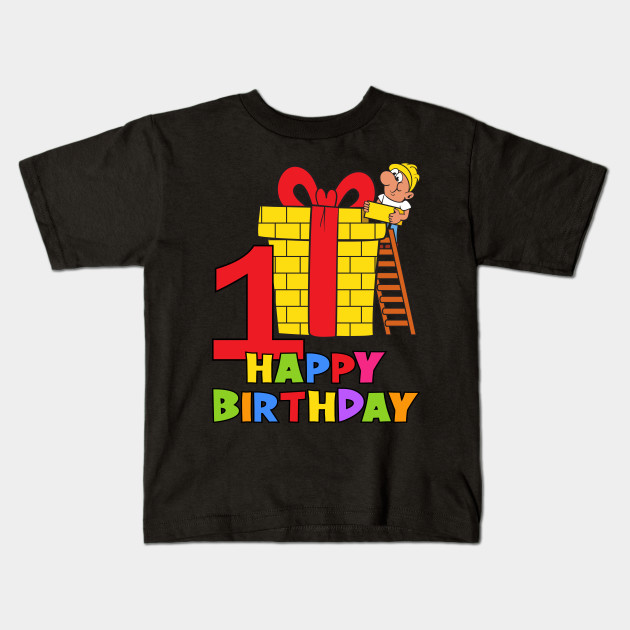 1st First Birthday Party 1 Year Old One Kids T Shirt
