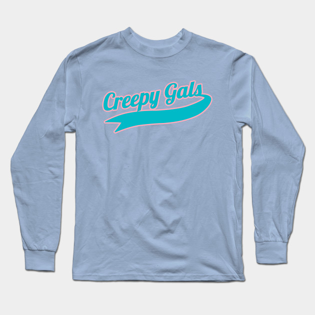 0d3eed06 Creepy Gals Team Tee (Teal & Pink) - Creepy Girl - Long Sleeve T ...