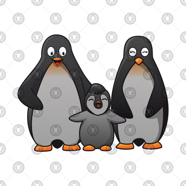 32dee09c5 ... Penguins Happy Family Kawaii Cute Anime Cartoon Character