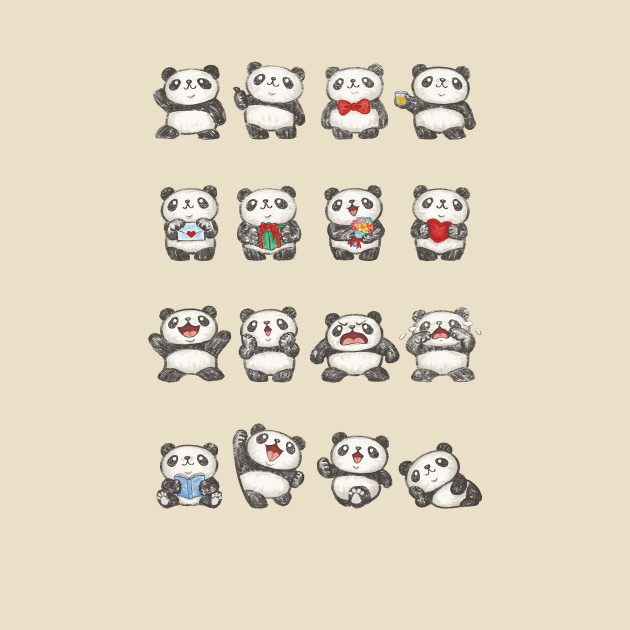 Various feeling of Panda