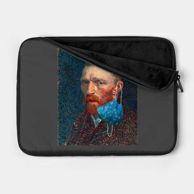 Woman By A Hearth By Vincent Van Gogh Laptop Shoulder Bag