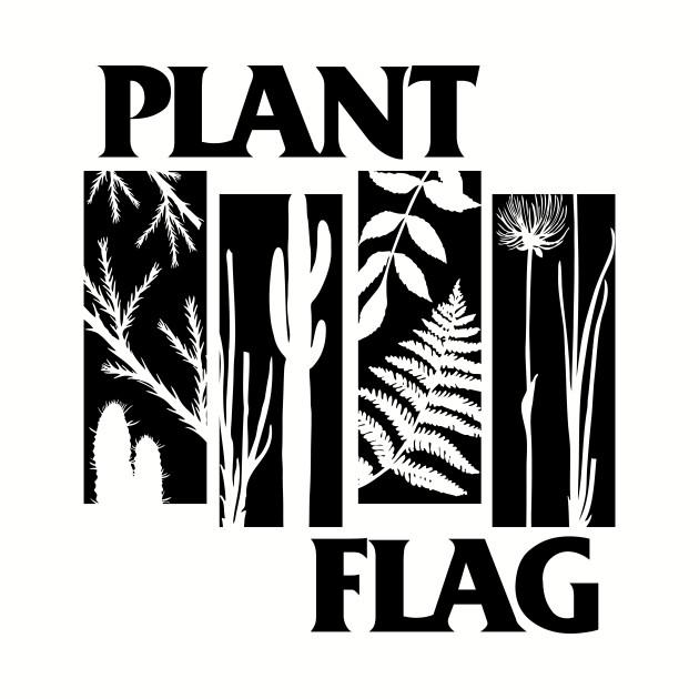 Plant Flag - Black Print