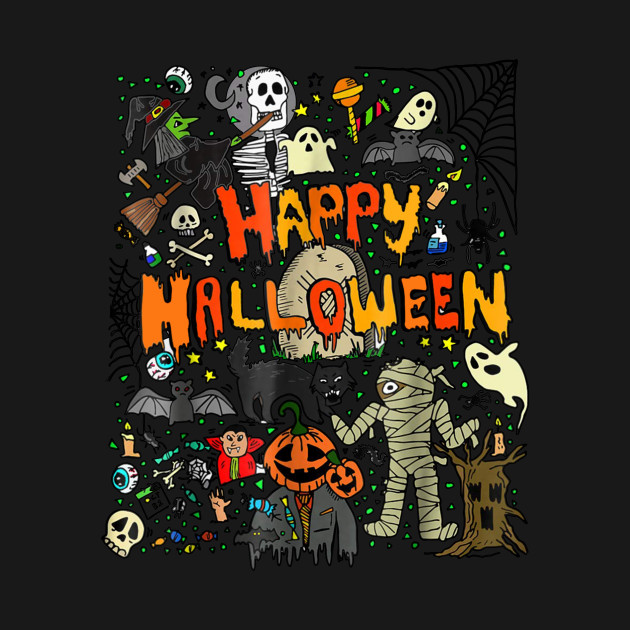 Happy Halloween Scary Retro