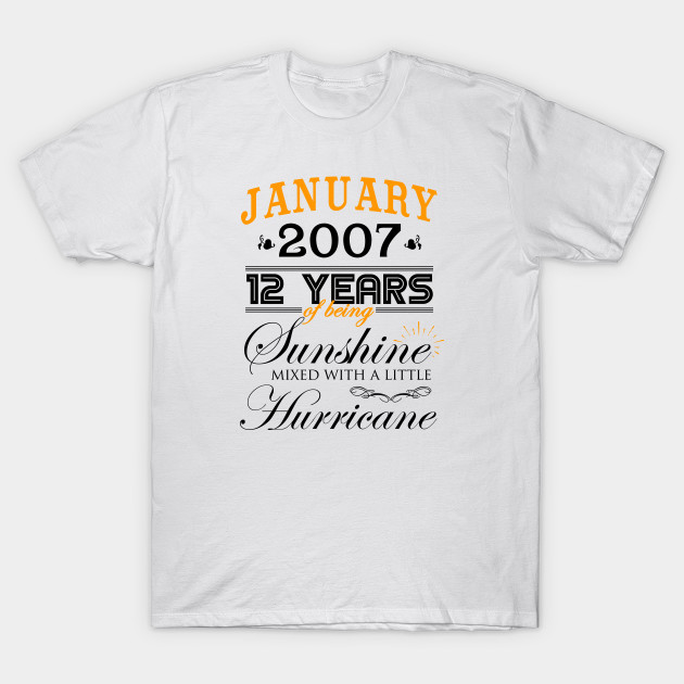 January 2007 Shirt 12th Wedding Anniversary 12 Years Of Marriage