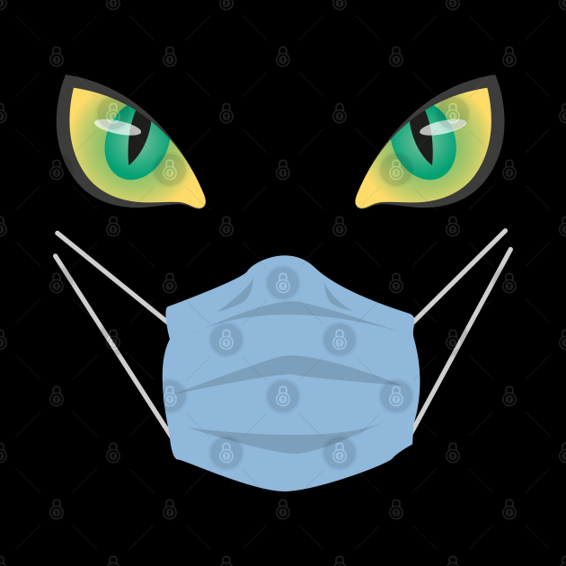 Halloween Cat with Mask