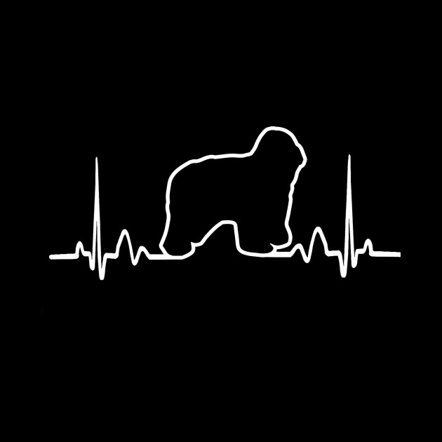 ed1c225d Polish Lowland Sheepdog Dog Heartbeat Funny Dog - Dog - Mug | TeePublic