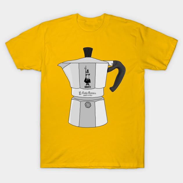 4bc87461 Bialetti Coffee Metal Moka Pot - Moka Pot - T-Shirt   TeePublic