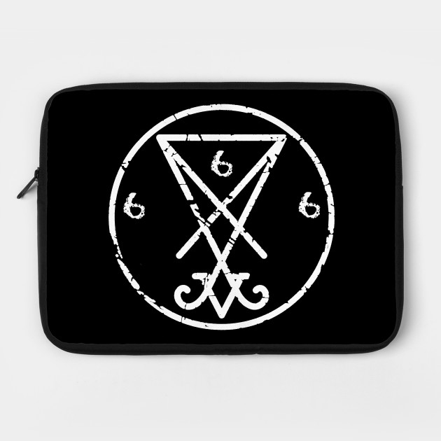 Satanic Symbol Of Lucifer 666 Satanism Laptop Case Teepublic