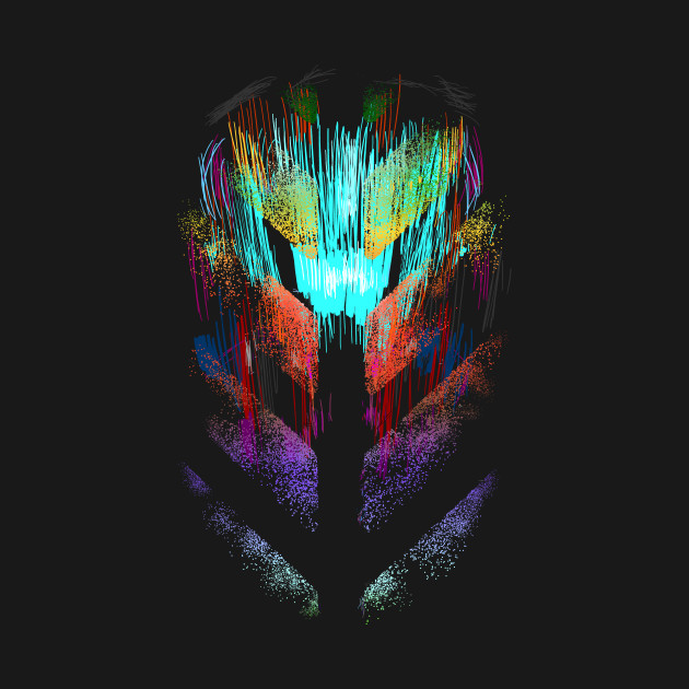 Scifi alien techno head