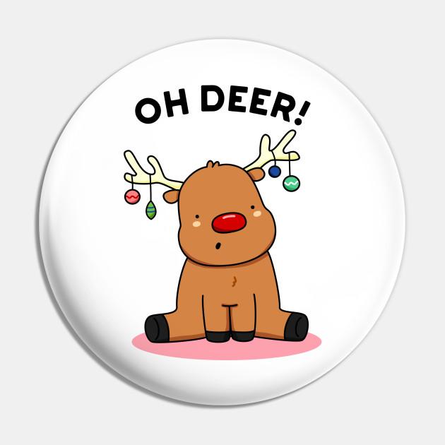 Christmas Reindeer.Oh Deer Cute Christmas Reindeer Pun