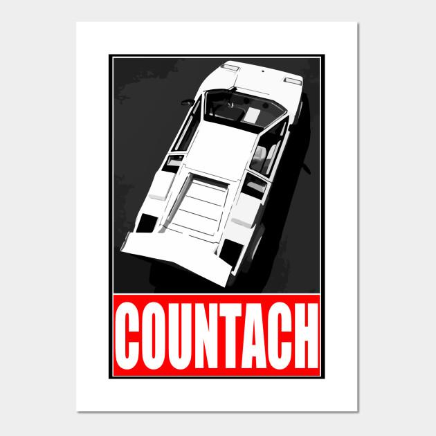Lamborghini Countach White Lamborghini Countach Posters And
