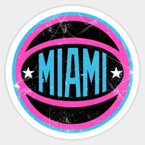 free shipping f7794 9a604 Miami Heat Stickers | TeePublic