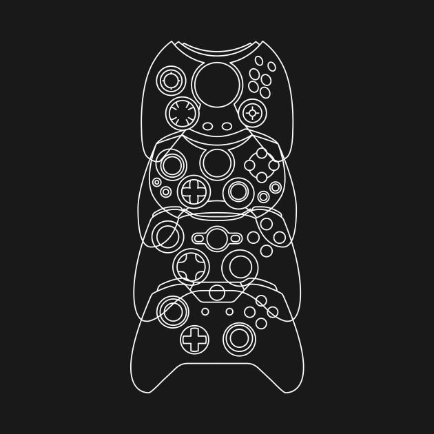 Xbox Controller Evolution (White Lines)