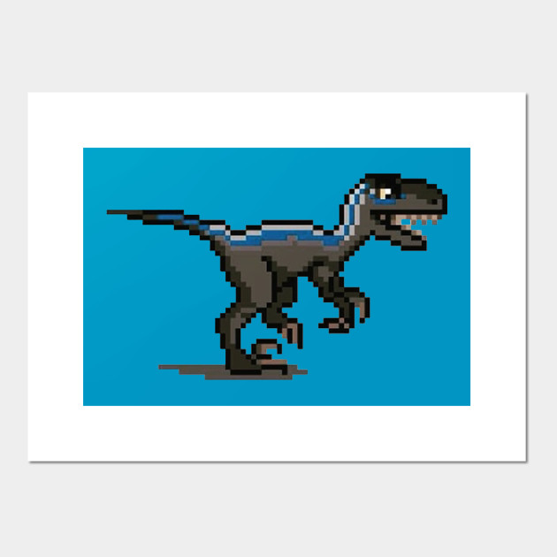 Jurassic World Pixel Blue