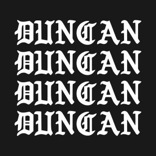 DUNCAN t-shirts