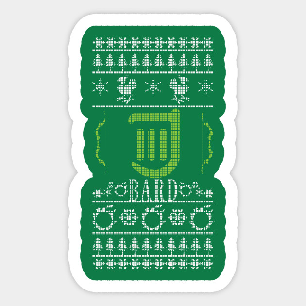 Final Fantasy Xiv Bard Ugly Christmas Sweater Fantasy Sticker