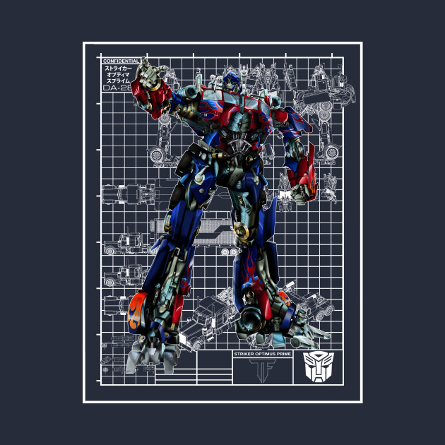Optimus Prime Movie Blueprint