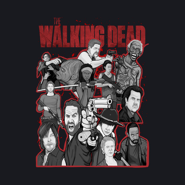 the Walking Dead character collage