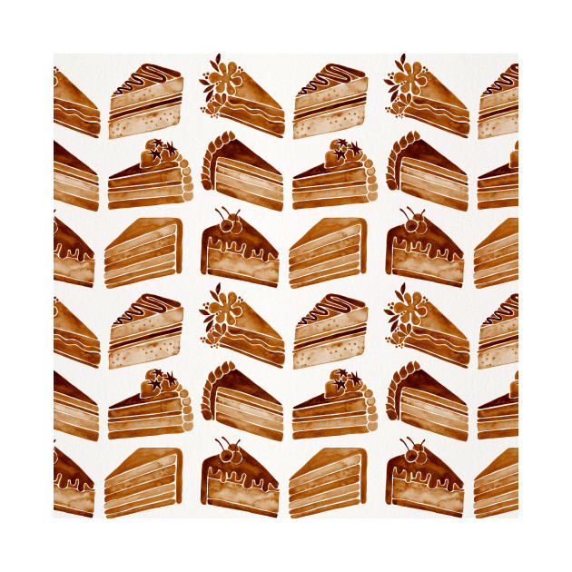 Brown Cake Slices