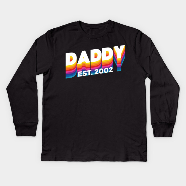 8759feb23 2002 Modern Retro T shirt For Father's Day Gifts Kids Long Sleeve T-Shirt