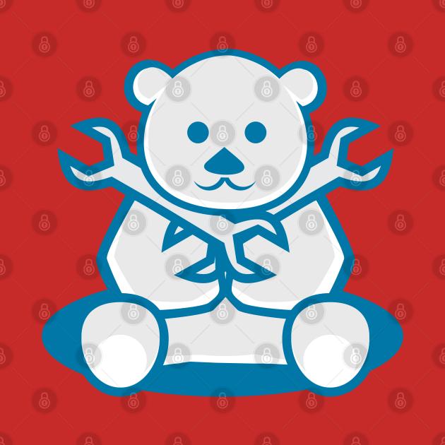 Funny Cartoon Cute Bear Mechanic