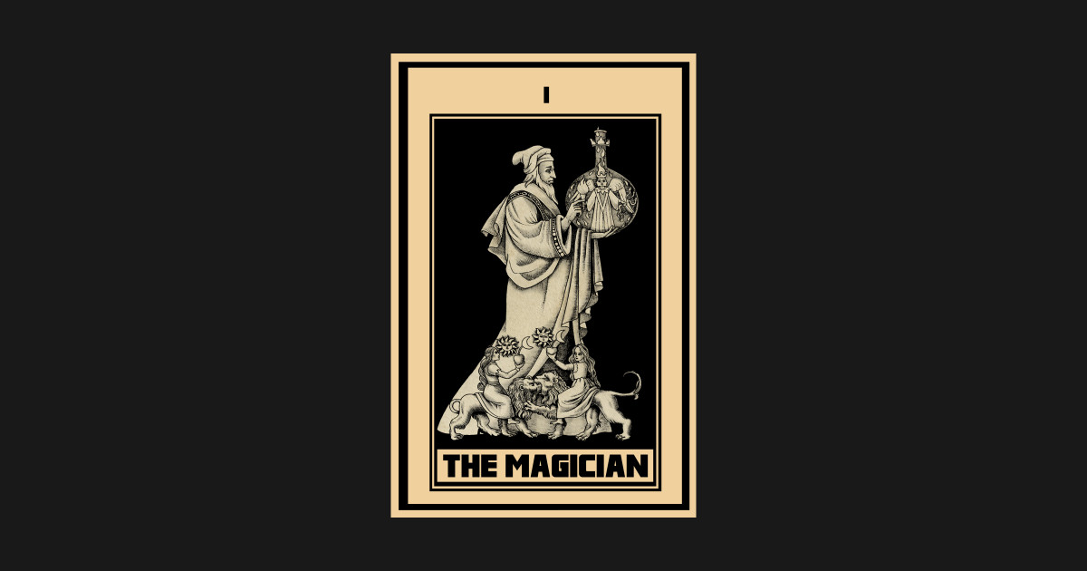 Vintage the magician Tarot Card i T-Shirt by zaraholt