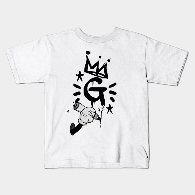 9eabb082 Big G Graffiti Initial Tag Design - Graffiti - Kids T-Shirt   TeePublic