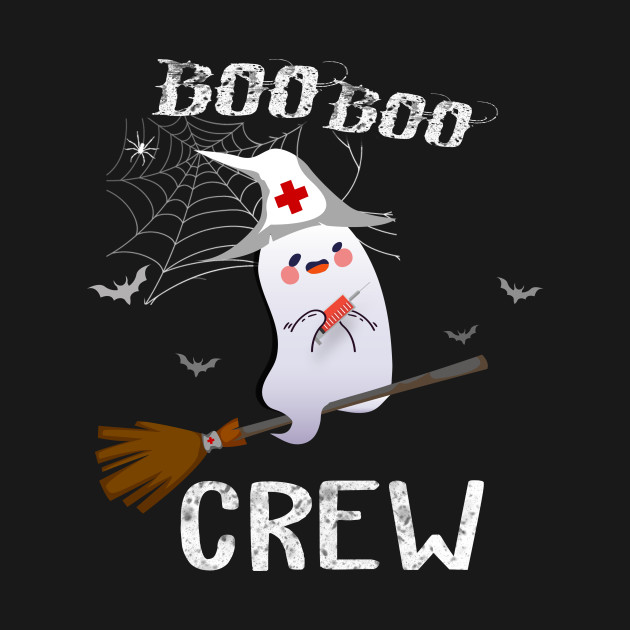 Boo Boo Crew Nurse Ghost-the flying witch ghost funny Halloween