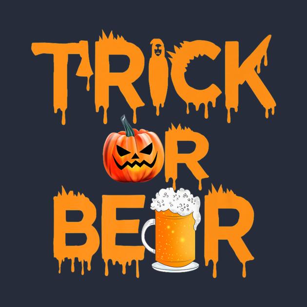 Trick pumpkin beer costume scary