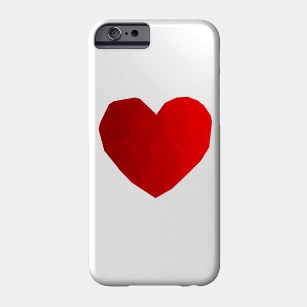 Heart Red Triangulation Love Heart Design Valentine Romance