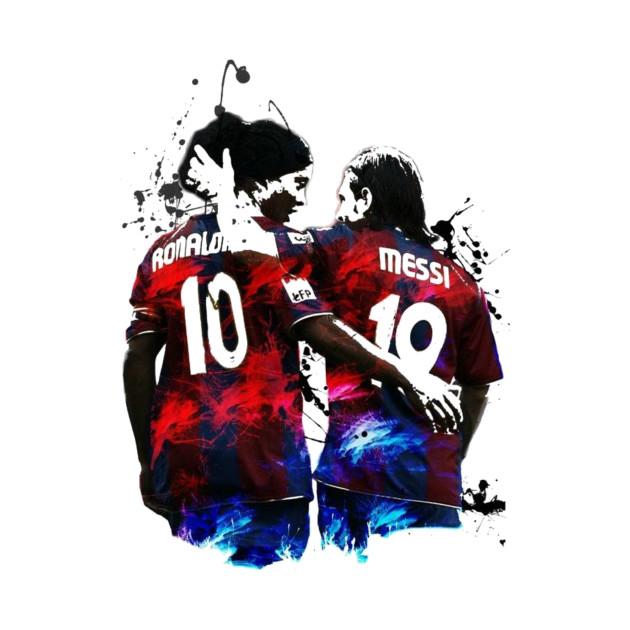 Illustration Messi And Ronaldinho