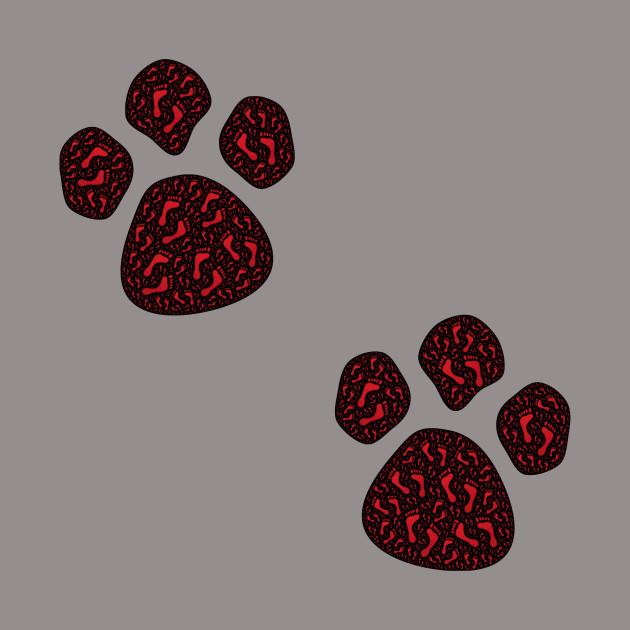 Footy paw prints